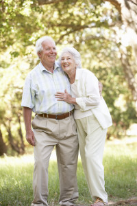 Frequently Asked Questions about seniors couple arm in arm in orchard