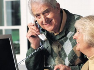 Aging and Disability Resource Center - couple on phone