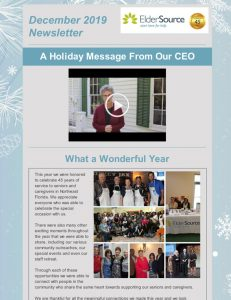 Dec 2019 Newsletter